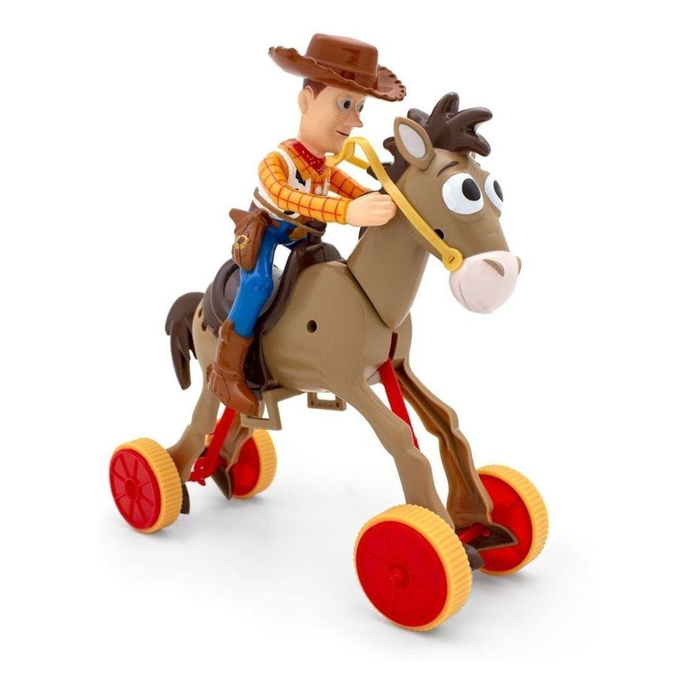 Boneco Woody e Bala no Alvo (Bullseye): Toy Story 4 - Toyng