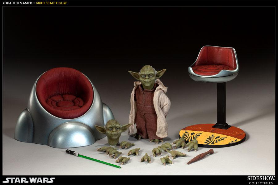 Boneco Yoda Mestre Jedi: Star Wars Escala 1/6 - Sideshow - CG