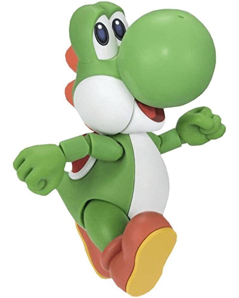 Boneco Yoshi: Super Mario Bros S.H.Figuarts - Bandai