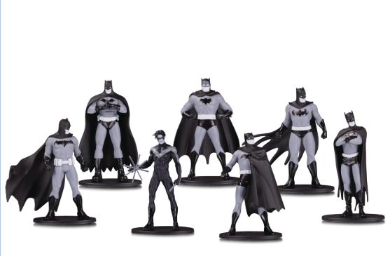 Action Figure Batman Mini: Black And White - Grupo 1 (Pack de 7) Boneco Colecionável - DC Collectibles