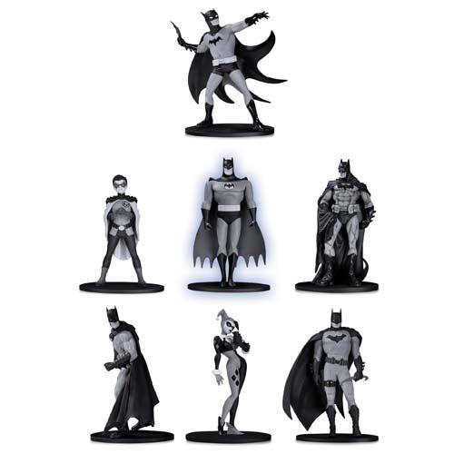 Action Figure Batman Mini: Black And White - Grupo 2 (Pack de 7) Boneco Colecionável - DC Collectibles