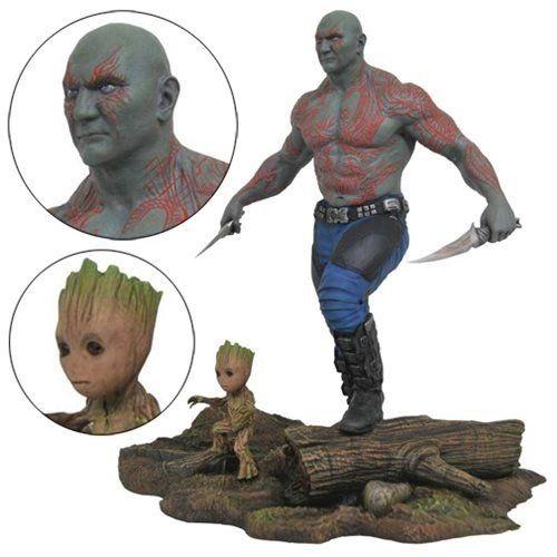 Bonecos Drax & Baby Groot: Guardiões da Galáxia Vol. 2 (Marvel Select) - Diamond Select - CD