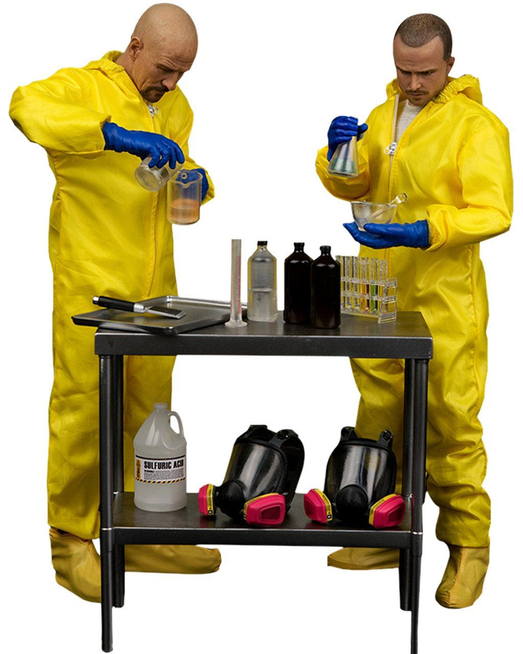 Bonecos Heisenberg & Jesse Hazmat Suit: Breaking Bad 1/6 - Threezero