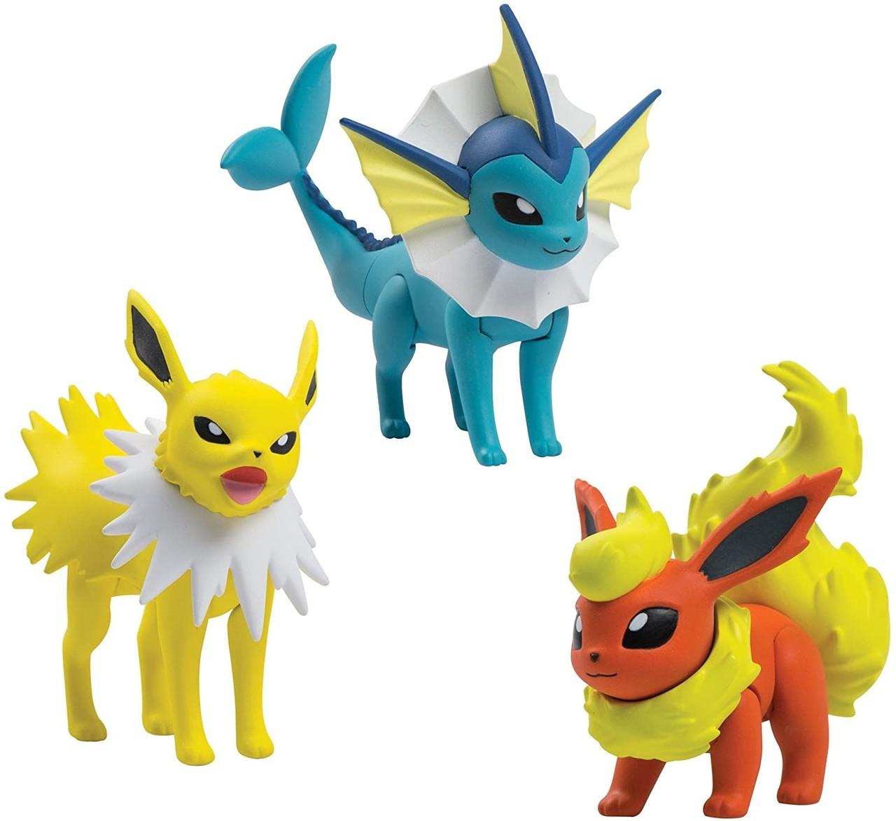 """Bonecos """"Jolteon, Vapareon e Flareon : Pokémon - Sunny"""