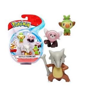 Bonecos Marowak, Grookey e Stufful: Pokémon (Battle Figure Set) - Sunny