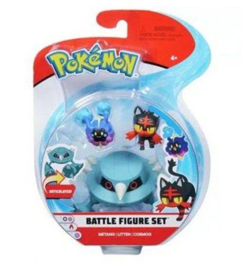 Bonecos Metang Litten & Cosmog: Pokémon (Battle Figure Set) - DTC
