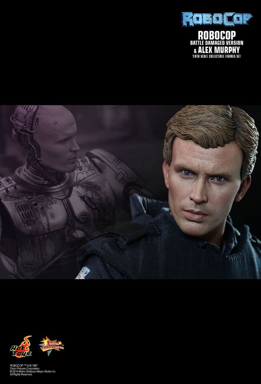 Bonecos RoboCop (Damaged) & Alex Murphy: RoboCop Escala 1/6 (MMS266) - Hot Toys - CG