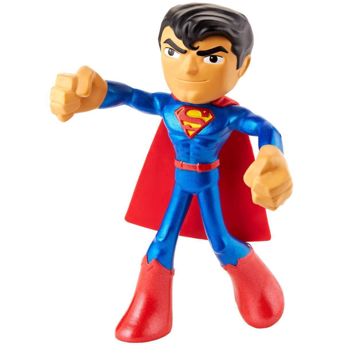 Bonecos Super-Homen ''Superman'': Flexíveis Dc - Super Heroes - Mattel (10cm)