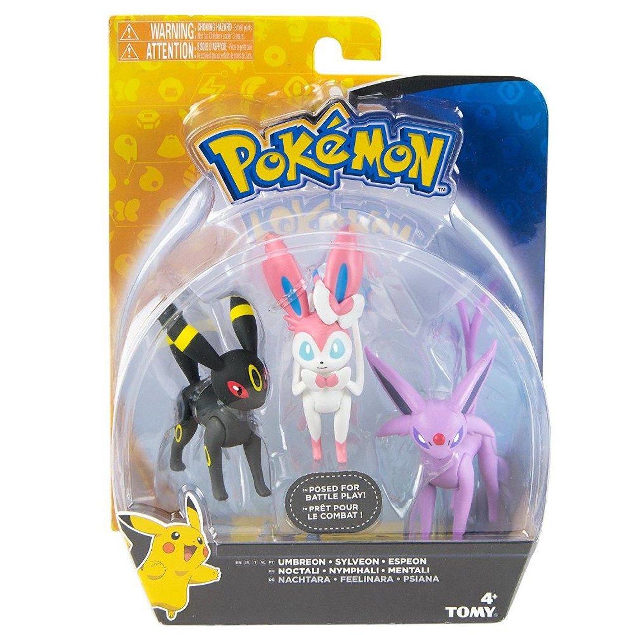 "Bonecos ""Umbreon, Sylveon, Espeon : Pokémon - Sunny"