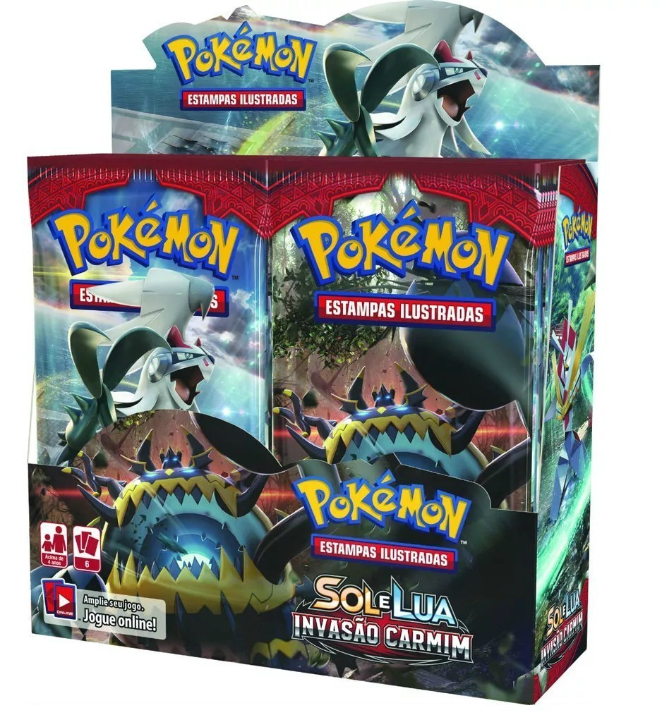 Box Display Pokemon Sol e Lua 4 Invasão Carmim - Copag