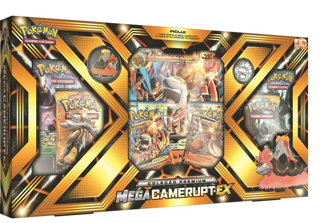 Box Pokemon Mega: Camerupt EX - Copag