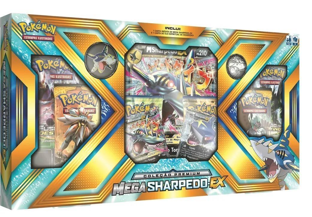 Box Pokemon Mega: Sharpedo EX - Copag
