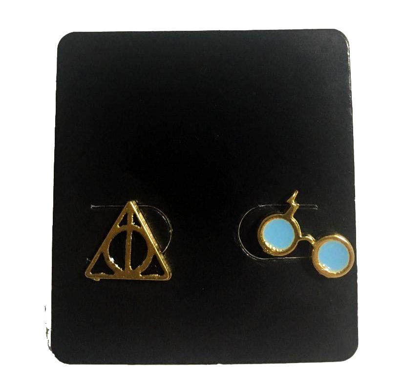 Brinco (Par) Harry Potter: Óculos e Relíquias da Morte