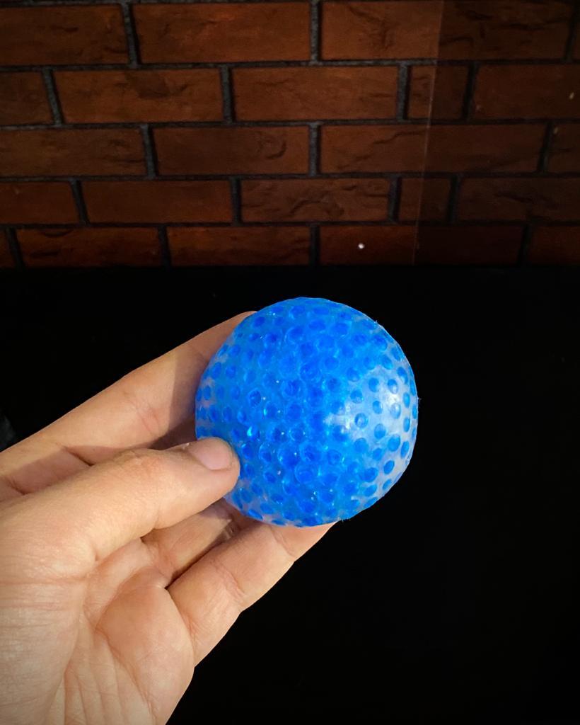 Brinquedo Anti Estresse Fidget Pop Tube Stress Ball Wacky Track SquishMallow Bolekinha Bolinha de Gel Apertar Sensorial de Alívio de Stress - Azul
