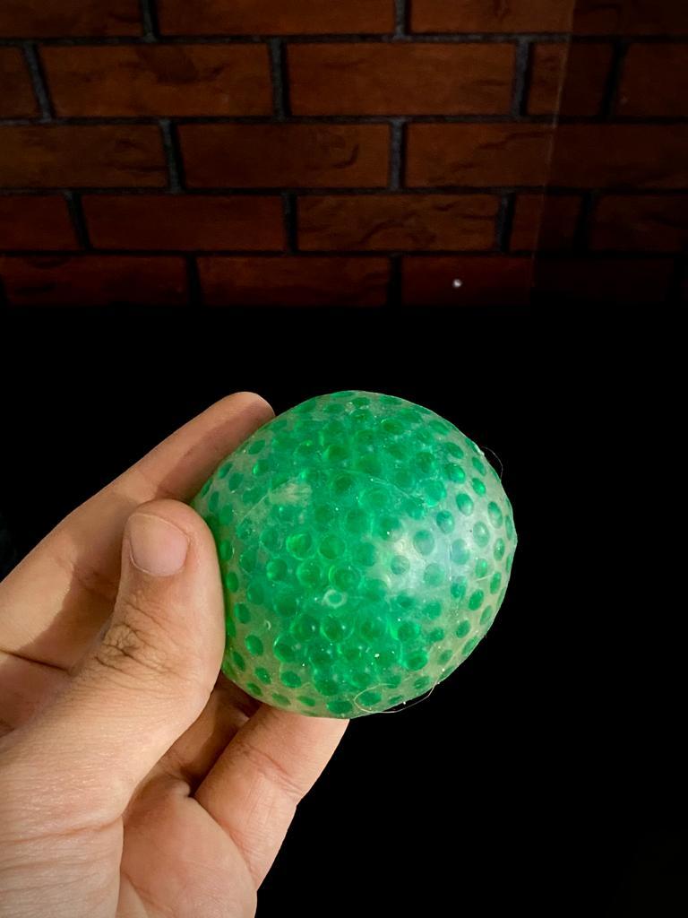 Brinquedo Anti Estresse Fidget Pop Tube Stress Ball Wacky Track SquishMallow Bolekinha Bolinha de Gel Apertar Sensorial de Alívio de Stress - Verde