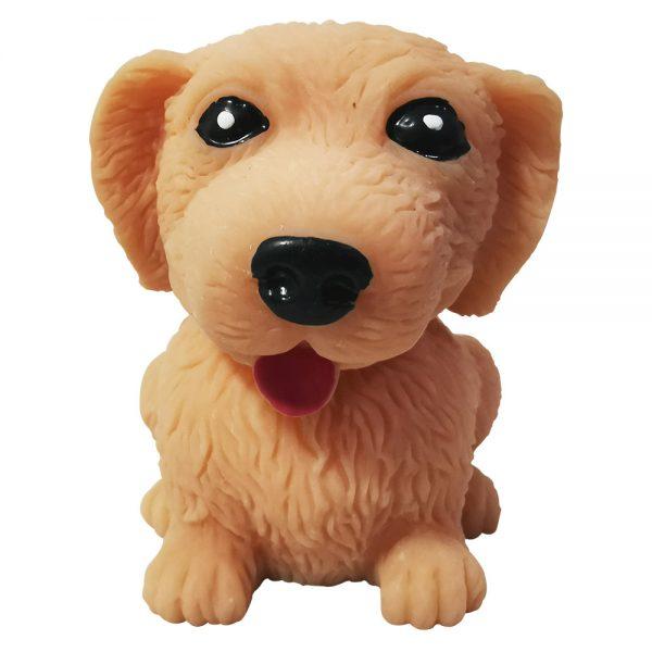 Brinquedo Anti Estresse Cachorro Cachorrinho De Apertar Fofydog Labrador Marrom