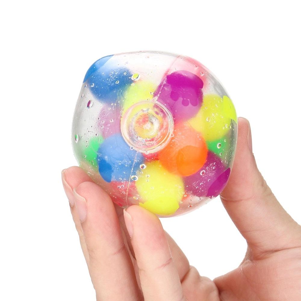 Brinquedo Anti Estresse Fidget Pop Tube Stress Ball Wacky Track SquishMallow Bola Bolinhas Coloridas Ball Colourful de Gel Apertar Sensorial de Alívio de Stress