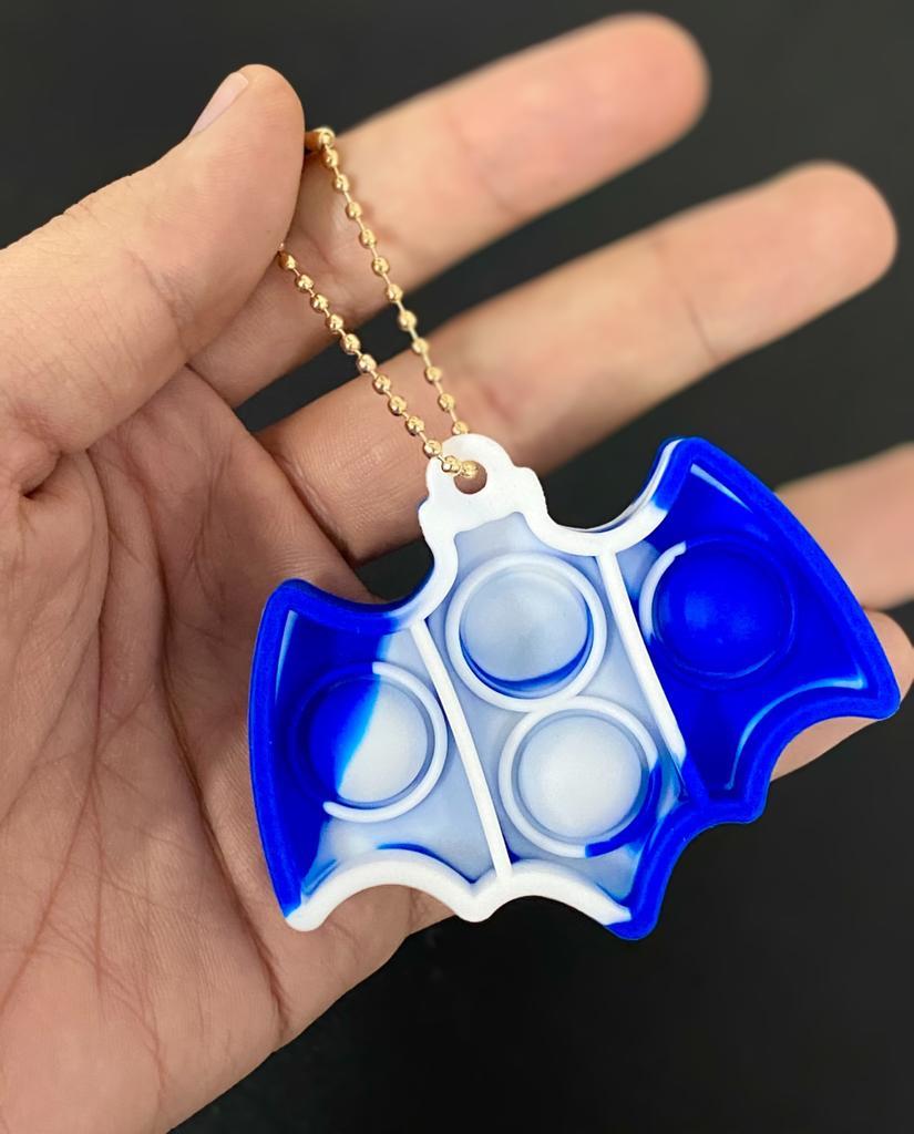 Brinquedo Anti Estresse Pop It Fidget Bubble Bolha Batman Sensorial de Alívio de Stress Azul Tie Dye
