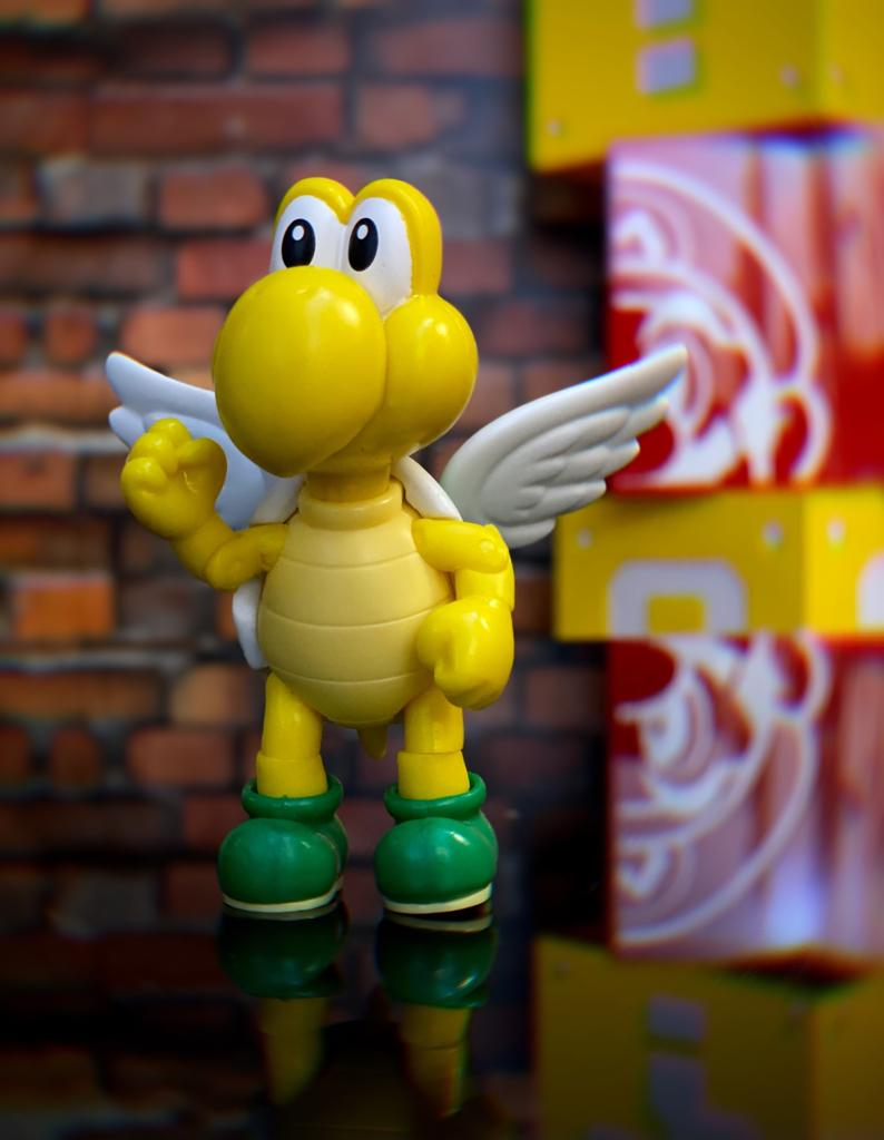 Brinquedo Boneco Action Figure Koopa Troopa e Asas: New Super Mario World - Jakks Pacific