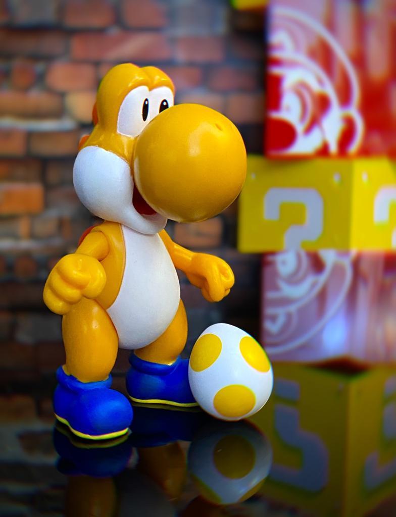 Brinquedo Boneco Action Figure Yoshi Laranja Com Ovo: New Super Mario - Jakks Pacific