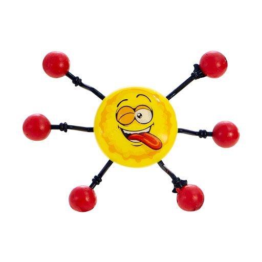 Brinquedo Boneco Aranha Amarelo Desce Parede