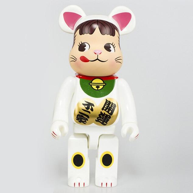 Brinquedo Boneco Colecionavél Action Figure Bearbrick Bear 400% Criança Gato da Sorte - EVALI
