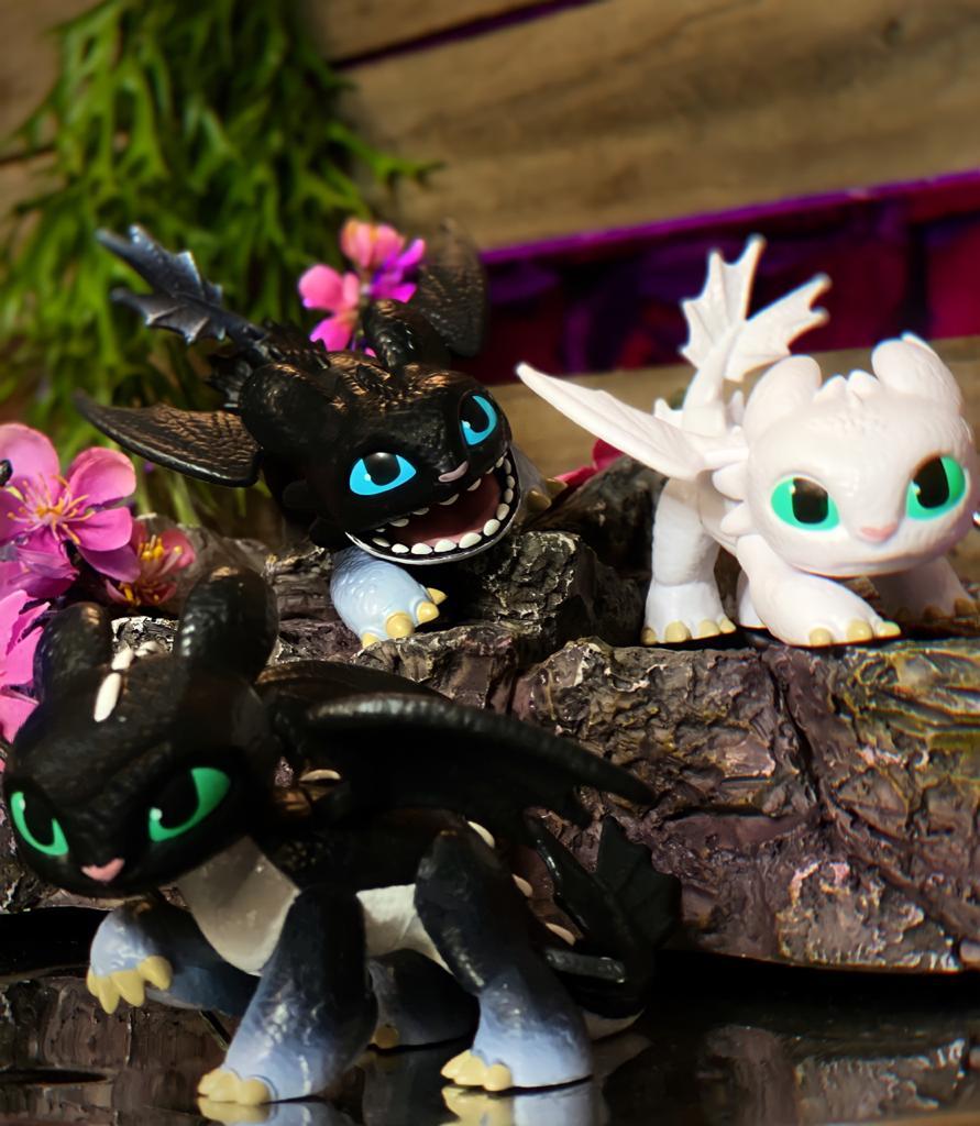 Brinquedo Boneco Dragão Nightlights: Como Treinar o seu Dragão 3 - Sunny