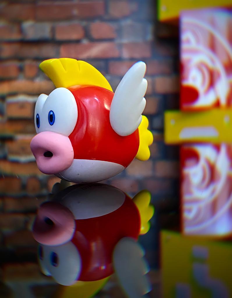 Brinquedo Boneco Estátua Cheep Cheep: New Super Mario - Jakks Pacific
