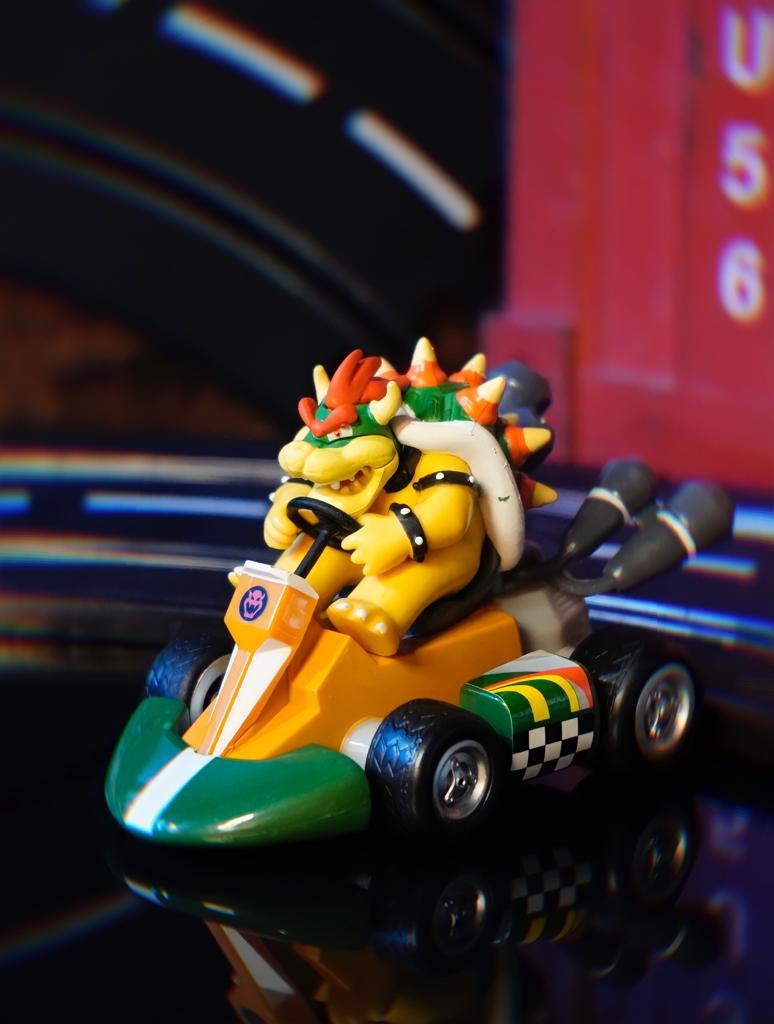 Brinquedo Carro Carrinho de Fricção Miniatura Colecionável Bowser: Super Mario Kart