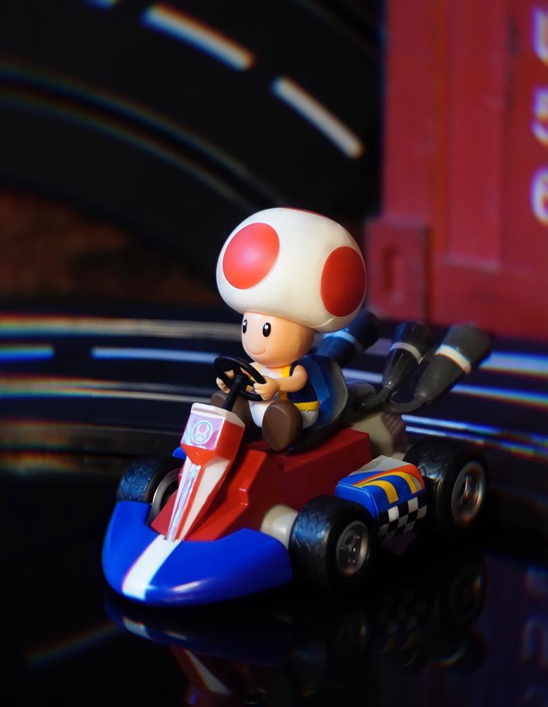 Brinquedo Carro Carrinho de Fricção Miniatura Colecionável Cogumelo Toad: Super Mario Kart