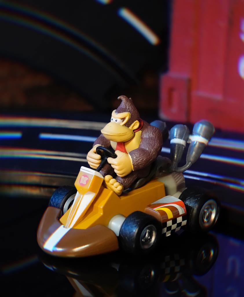 Brinquedo Carro Carrinho de Fricção Miniatura Colecionável Donkey Kong DK: Super Mario Kart