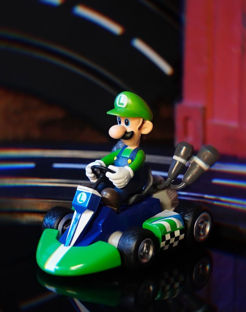 Brinquedo Carro Carrinho de Fricção Miniatura Colecionável Luigi: Super Mario Kart