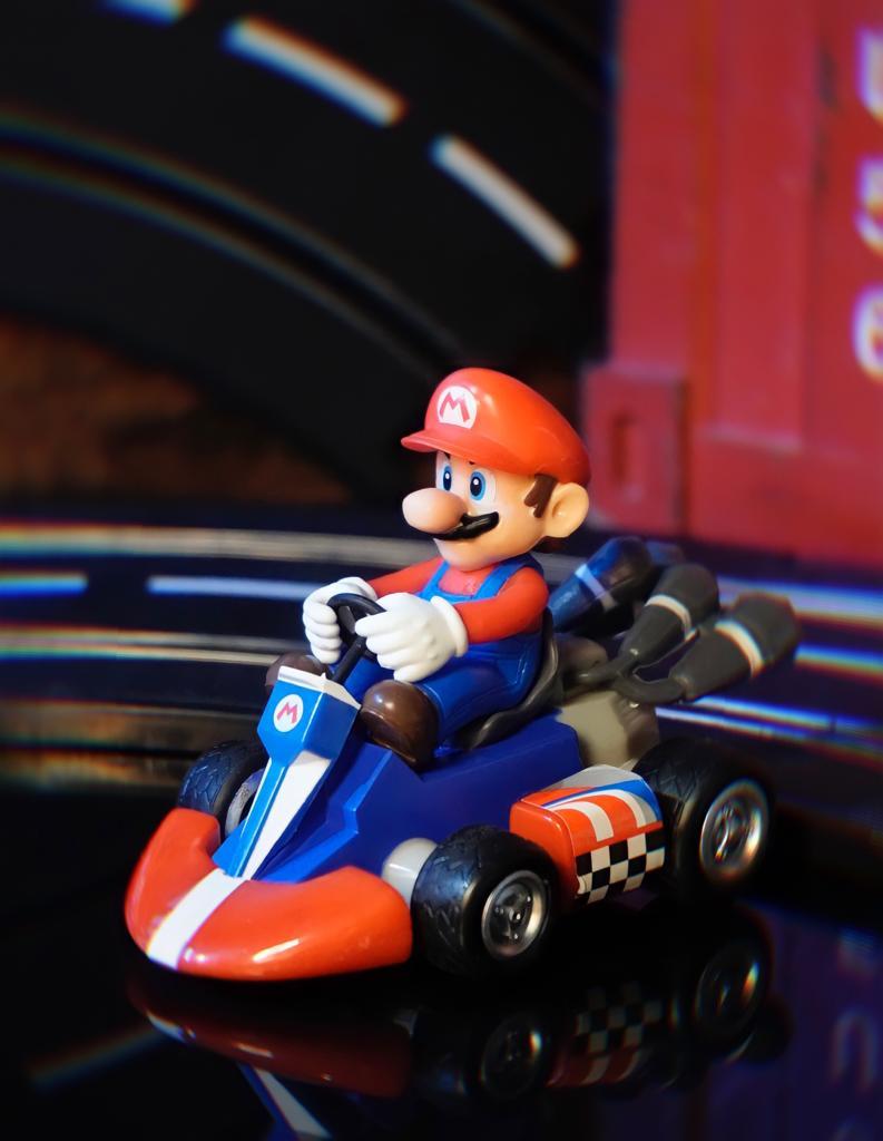 Brinquedo Carro Carrinho de Fricção Miniatura Colecionável Mario Bros: Super Mario Kart