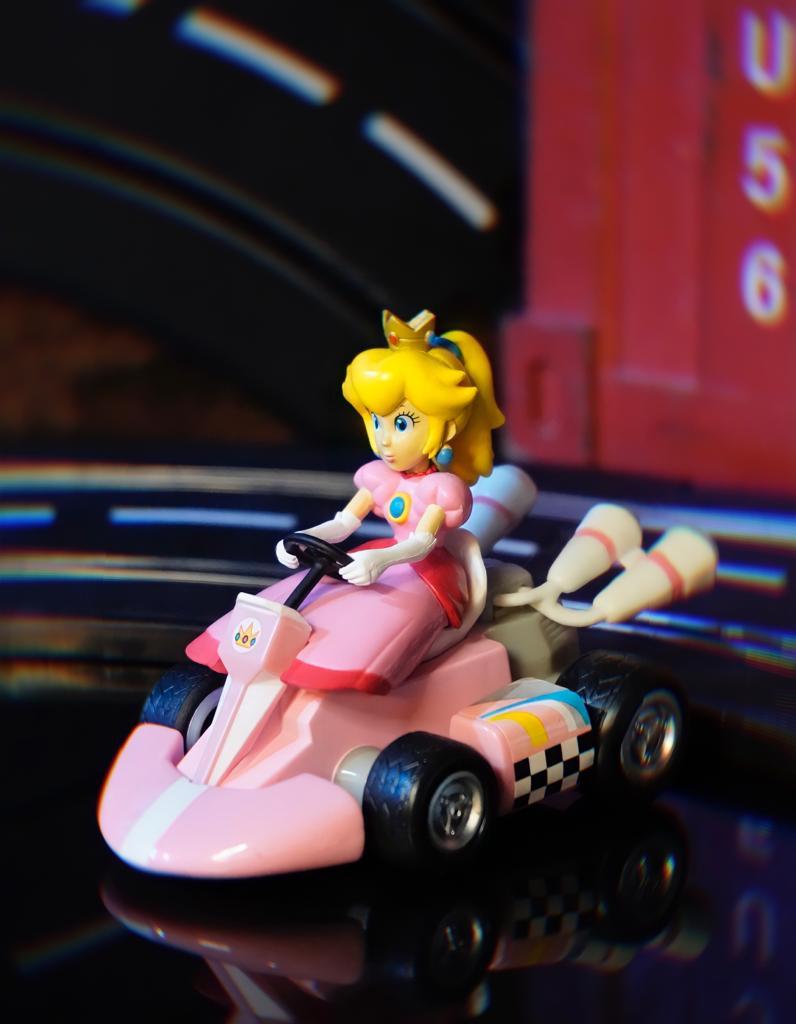 Brinquedo Carro Carrinho de Fricção Miniatura Colecionável Princesa Peach: Super Mario Kart