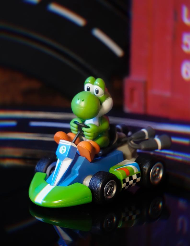 Brinquedo Carro Carrinho de Fricção Miniatura Colecionável Yoshi: Super Mario Kart