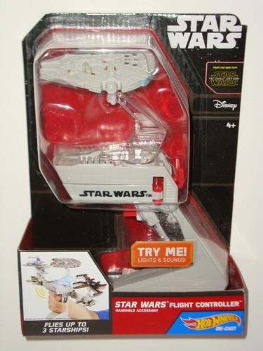 Brinquedo Controlador De Naves Nave Millenium Falcon Han Solo Chewbacca Star Wars Disney Hot Wheels Com Som - Mattel