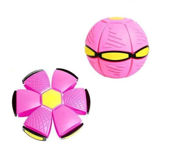 Brinquedo de Descompressão Frisbee Bola UFO Deformed Ball (Rosa) - EVALI