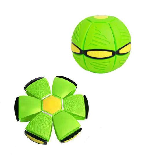 Brinquedo de Descompressão Frisbee Bola UFO Deformed Ball (Verde) - EVALI