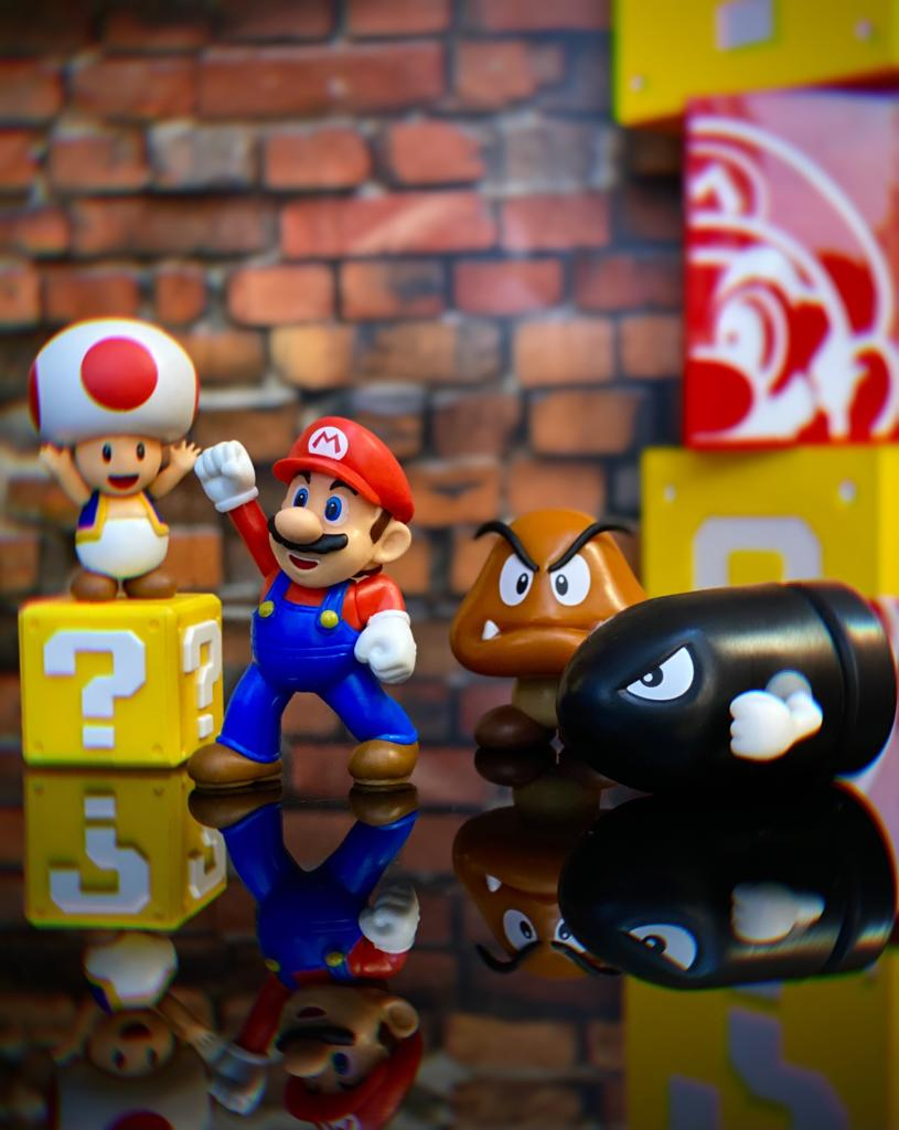 Brinquedo Diorama Cenário Acorn Plans Multi-Pack: New Super Mario World - Jakks Pacific