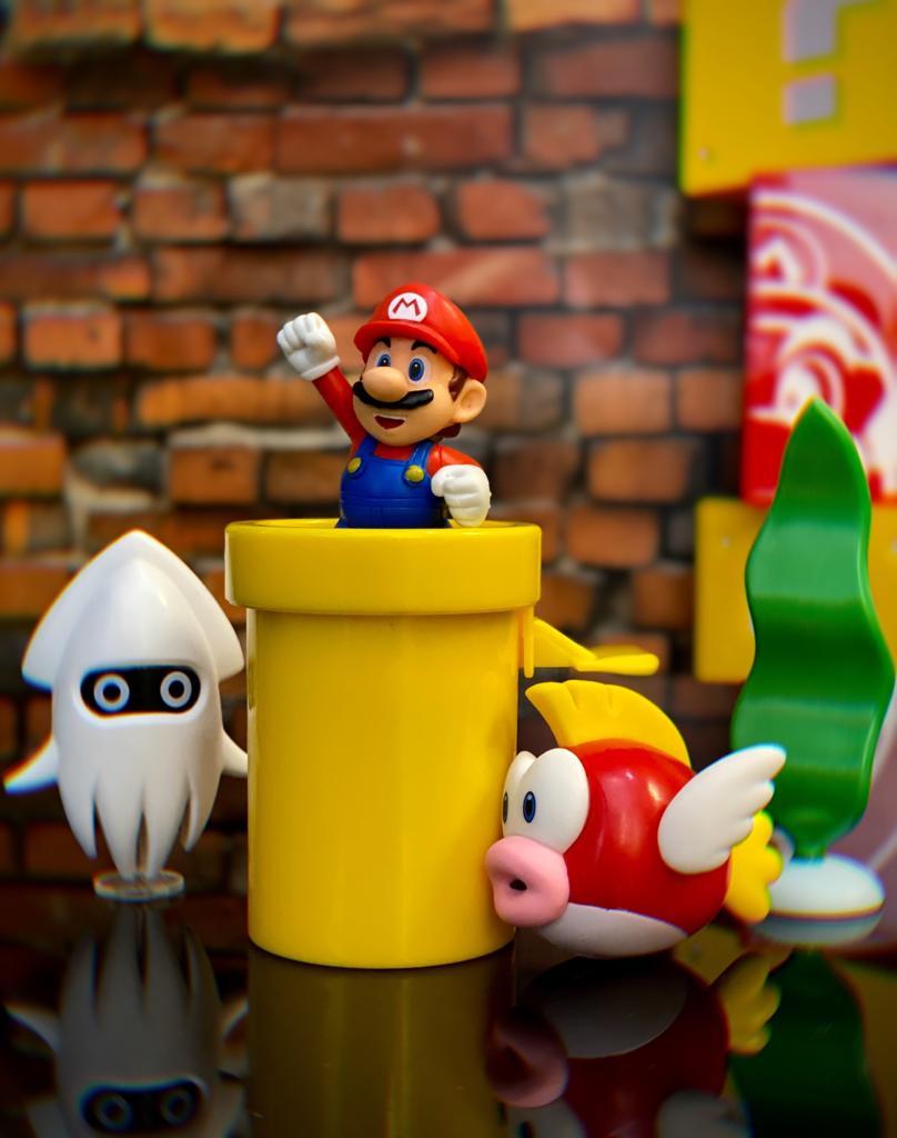 Brinquedo Diorama Cenário Subaquático Underwater: New Super Mario World - Jakks Pacific