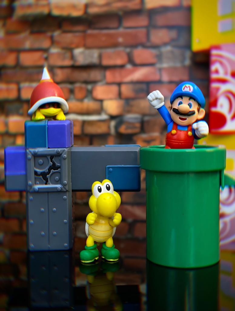 Brinquedo Diorama Cenário Subterrâneo Underground: New Super Mario World - Jakks Pacific