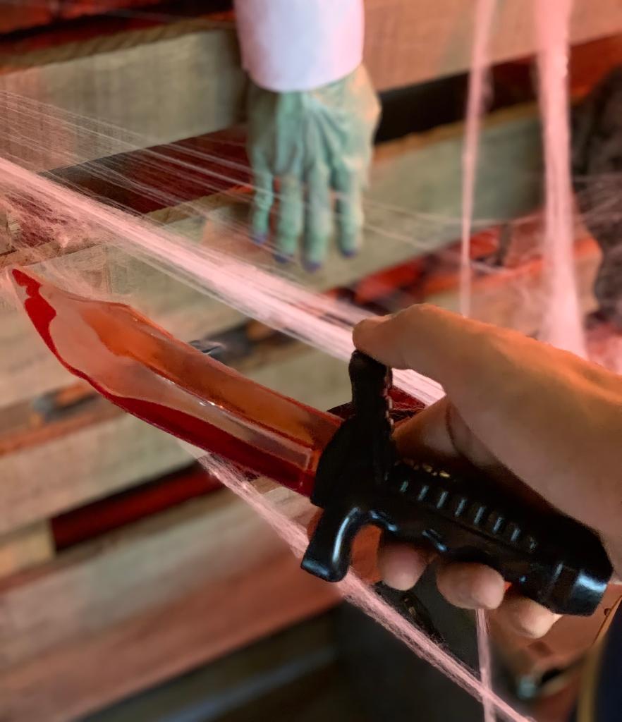 Brinquedo Faca Com Sangue: Terror Halloween Dia das Bruxas