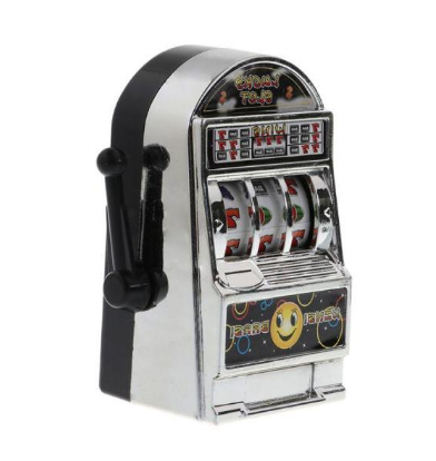 Brinquedo Mini Caça-Níquel Jackpot (Prata) - EVALI