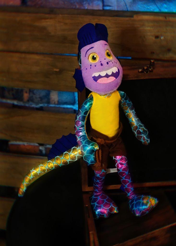 Brinquedo Pelúcia Boneco Desenho Animado Alberto Scorfano: Luca Disney