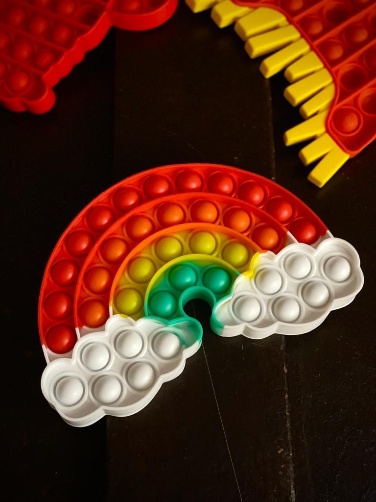 Brinquedo Prime Anti Estresse Pop It Fidget Bubble Bolha Arco Iris Pop Tube Stress Ball Wacky Track SquishMallow Sensorial De Alívio Stress