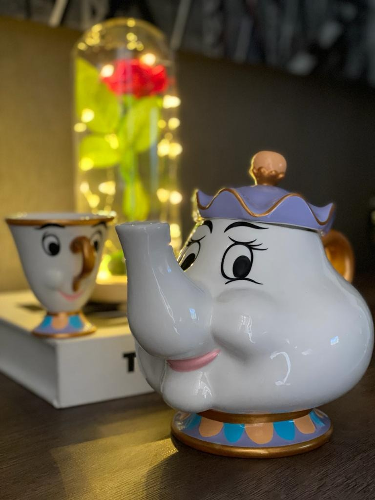 Bule de Porcelana Mrs. Potts: Bela e a Fera (Disney)