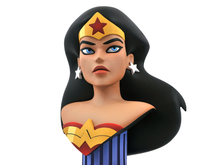 Estátua Busto 3D Mulher Maravilha Wonder Woman: Liga Da Justiça Justice League Animated Legends Escala 1/2 Edição Limitada Limited Edition - Diamond Select Toys - EV