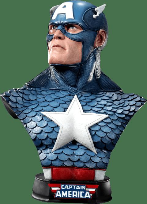 Busto Capitão América (Captain America): Marvel Classic Escala 1/1 - Sideshow