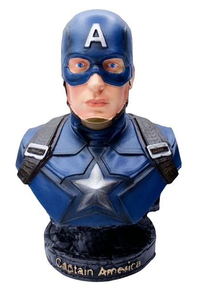 Busto Capitão América (Captain America): Vingadores Guerra Infinita (Avengers Infinity War)