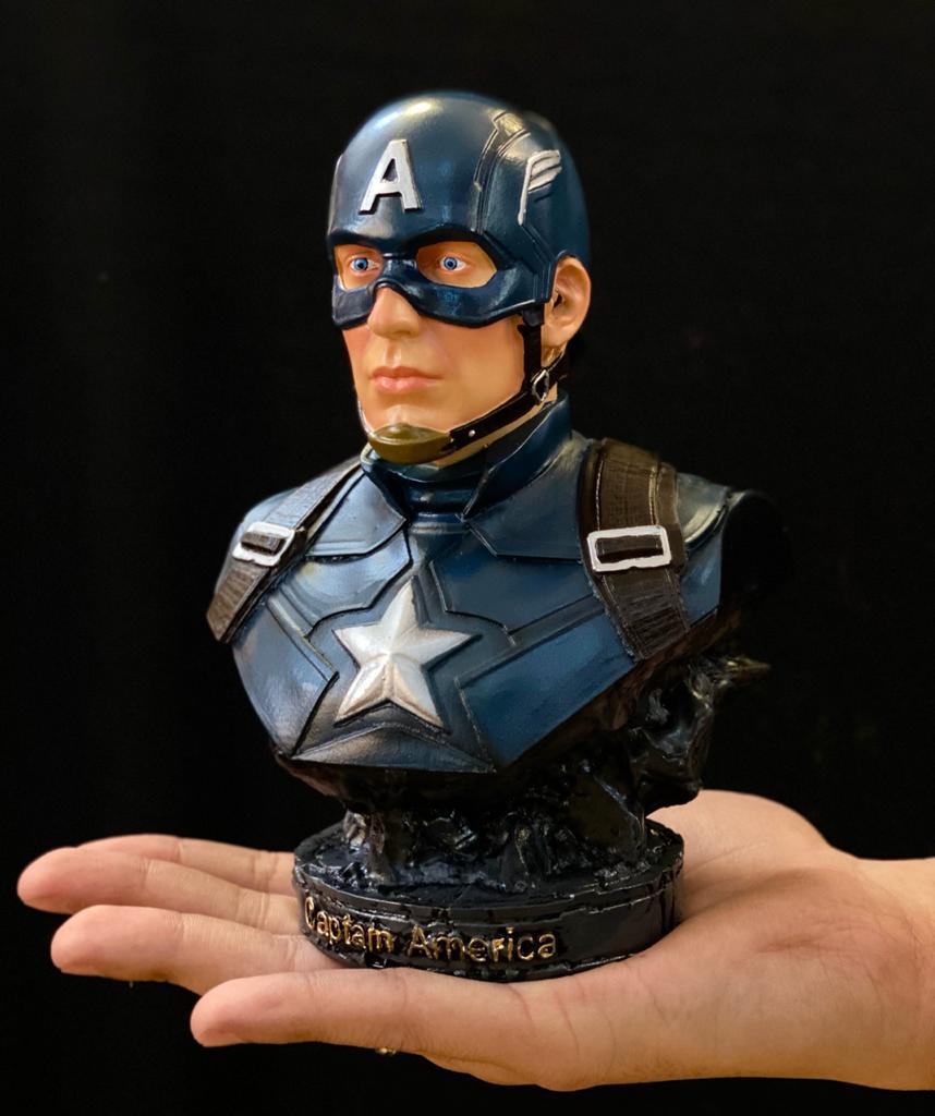 Busto Capitão América Captain America: Vingadores Guerra Infinita Avengers Infinity War - EV